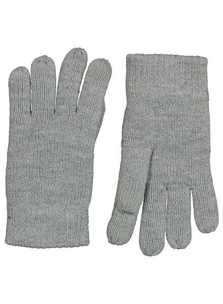 kinder handschoenen touchscreen grijsmelange grijsmelange - 1000014471 - HEMA