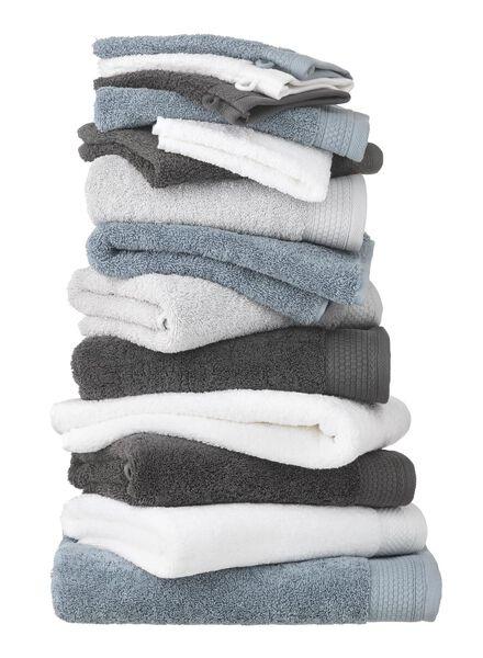 handdoek - 60 x 110 cm - hotelkwaliteit - donkergrijs - 5216015 - HEMA