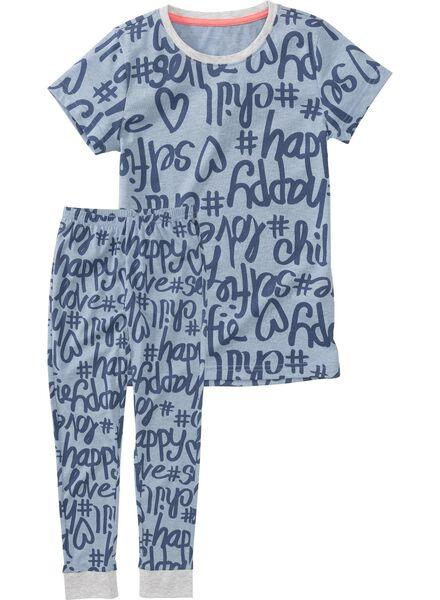 kinderpyjama blauw blauw - 1000002759 - HEMA