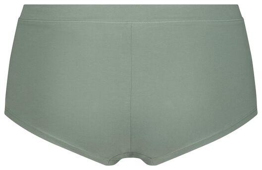 damesboxer real lasting cotton groen groen - 1000022959 - HEMA