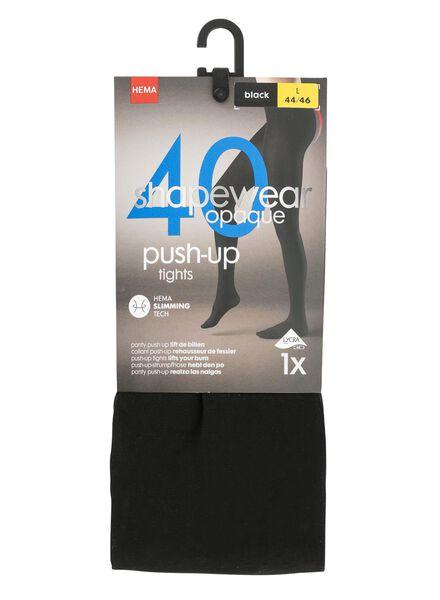panty push-up 40 denier zwart zwart - 1000001213 - HEMA