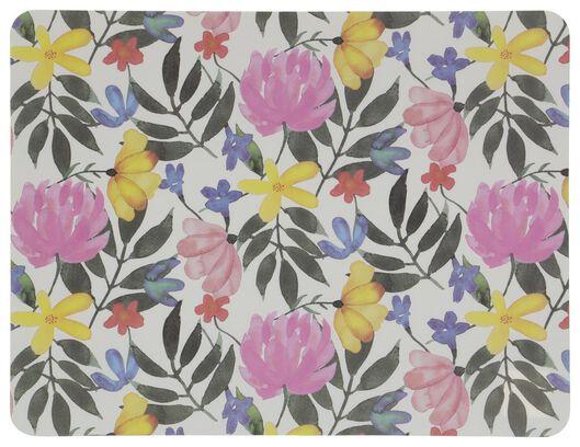 Placemat 32x42 kunststof bloemen - in Placemats