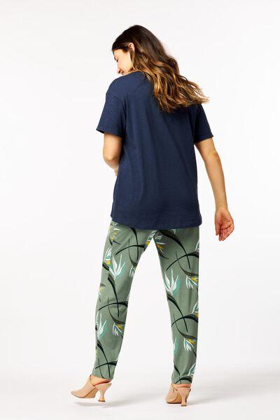dames t-shirt blauw M - 36390482 - HEMA