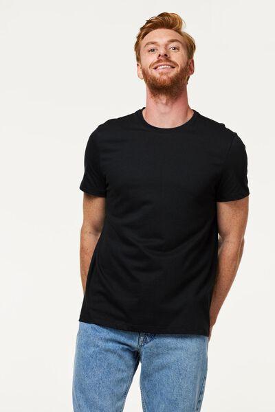 2-pak heren t-shirts zwart XXL - 34277037 - HEMA