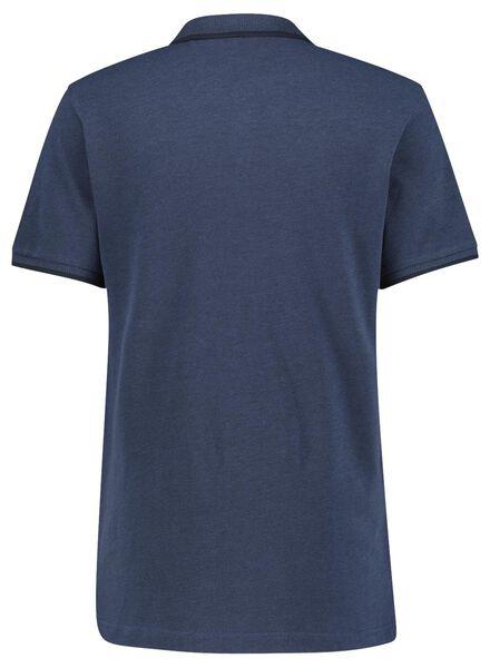 herenpolo donkerblauw donkerblauw - 1000016762 - HEMA