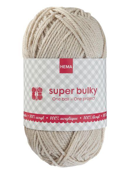 breigaren super bulky - beige super bulky beige - 1400071 - HEMA