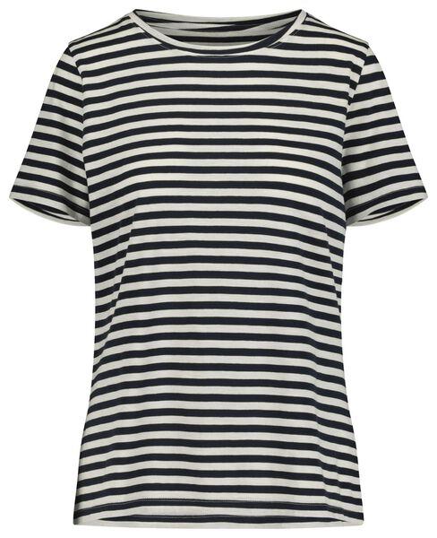 dames t-shirt donkerblauw donkerblauw - 1000019254 - HEMA