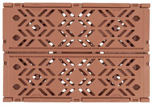 klapkratje recycled 16x24x10 - terra - 39821058 - HEMA