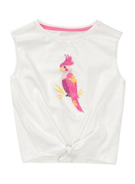 kinder t-shirt gebroken wit 146/152 - 30803059 - HEMA