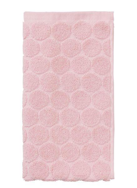 gastendoek - 30 x 55 cm - zware kwaliteit - roze stip - 5200061 - HEMA
