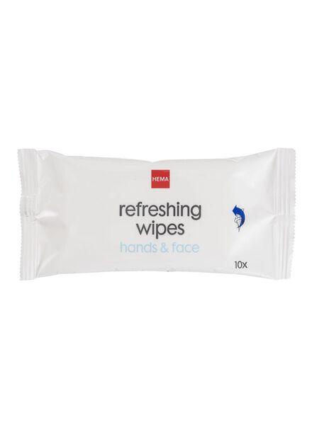 10-pak verfrissingsdoekjes - 11510032 - HEMA