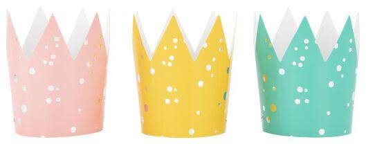 feesthoedjes papier regenboog - 6 stuks - 14210151 - HEMA