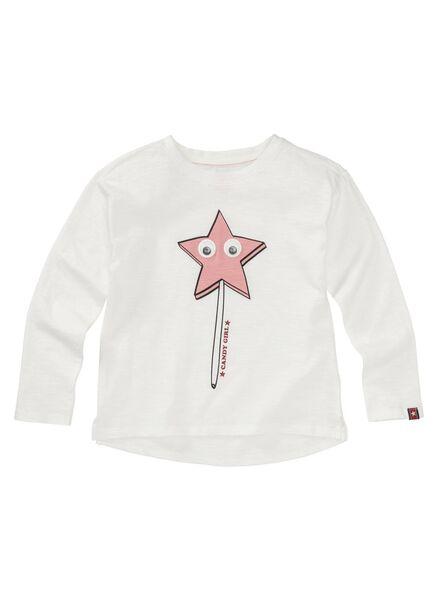 kinder t-shirt gebroken wit gebroken wit - 1000013494 - HEMA
