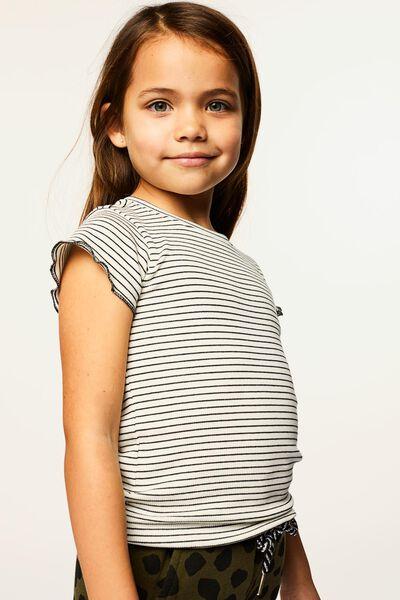 kinder t-shirt rib gebroken wit 134/140 - 30830780 - HEMA