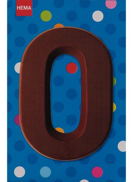 melkchocolade letter O - 10033013 - HEMA