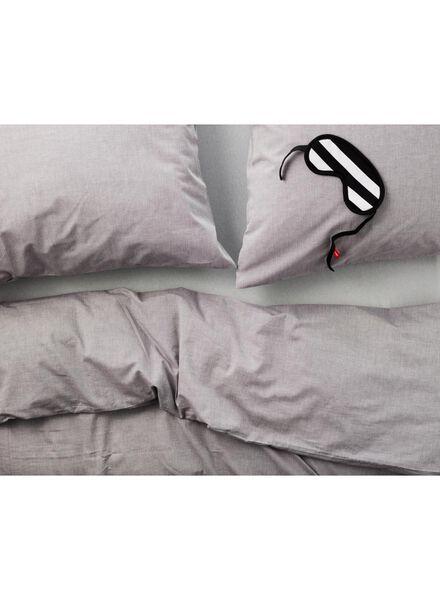 dekbedovertrek - chambray katoen - 200 x 200 cm - lichtgrijs - 5700063 - HEMA