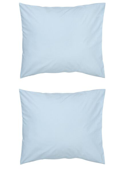 kussenslopen - zacht katoen - blauw lichtblauw 60 x 70 - 5140141 - HEMA