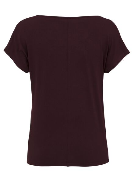 dames t-shirt wijnrood wijnrood - 1000008277 - HEMA