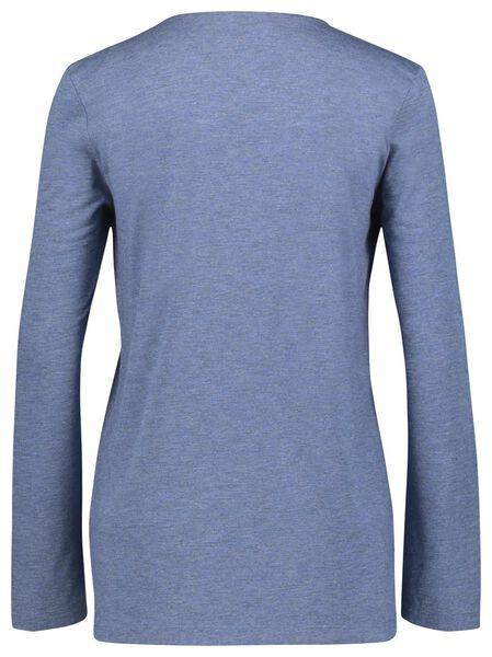 dames t-shirt met glitter blauw blauw - 1000021444 - HEMA