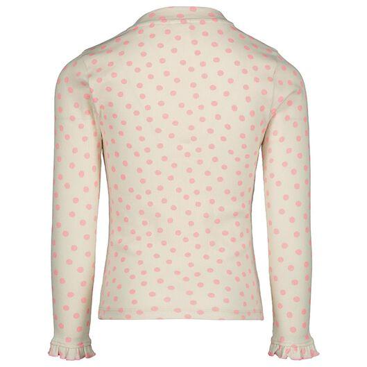 kinder t-shirt rib wit - 1000020135 - HEMA