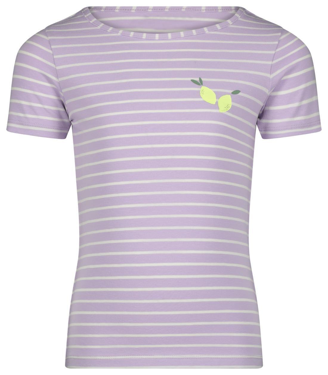HEMA Kinder T-shirt Stripes Lila (lila)