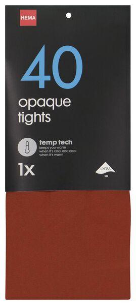 panty temperatuurregulerend 40denier cognac cognac - 1000016856 - HEMA