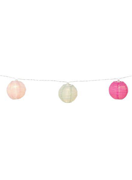 verlichtingssnoer lampionnen - 225 cm - gekleurd - 10 lampjes - 13190005 - HEMA