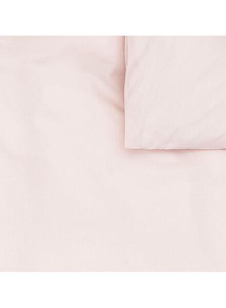 dekbedovertrek - zacht katoen - 200 x 200/220 cm - roze roze 200 x 220 - 5700180 - HEMA