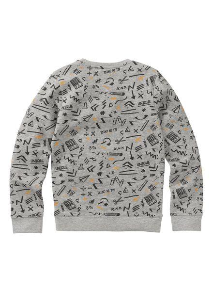 kindersweater middengrijs middengrijs - 1000008576 - HEMA