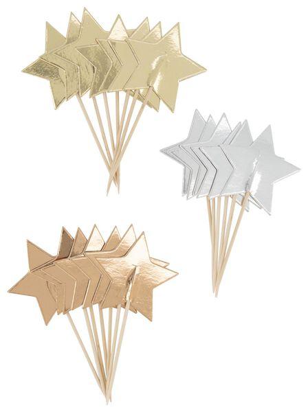 cocktailprikkers 8 cm sterren - 20 stuks - 25600141 - HEMA