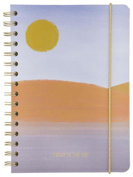 notitieboek spiraal A5 gelinieerd zon - 14100064 - HEMA