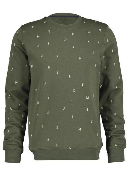 herensweater groen groen - 1000017383 - HEMA