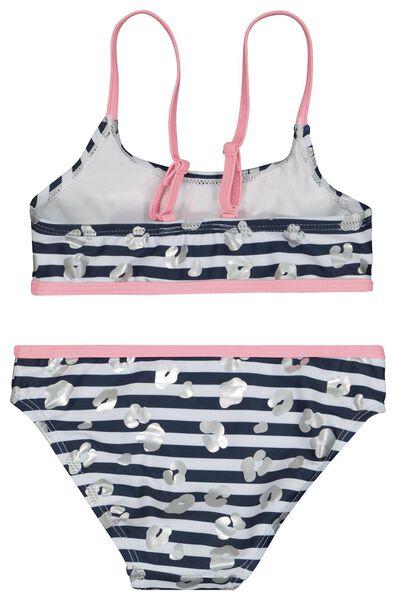 kinder bikini strepen donkerblauw 110/116 - 22221107 - HEMA