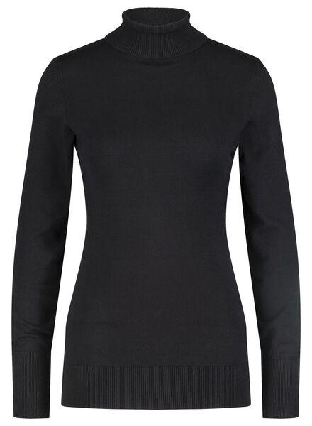 dames coltrui zwart zwart - 1000015659 - HEMA