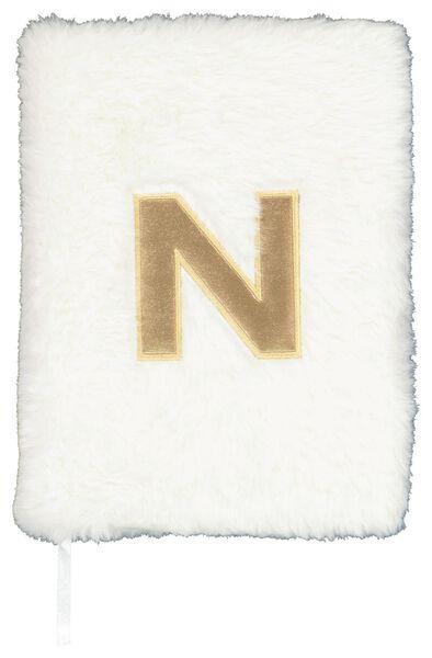 Notitieboek A5 fluffy letter N