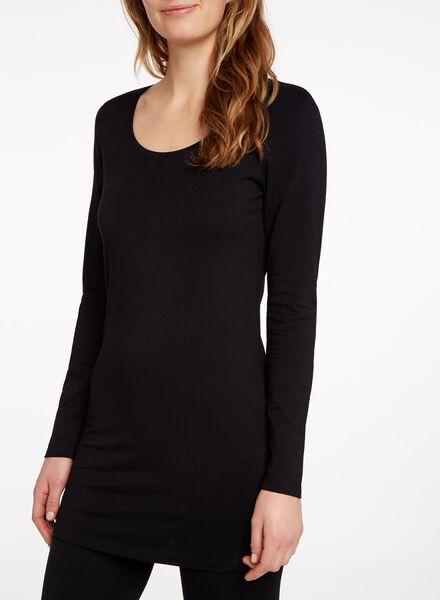 dames t-shirt zwart zwart - 1000005131 - HEMA