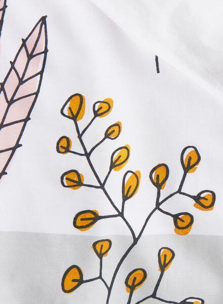 dekbedovertrek - zacht katoen - 140 x 200 cm - wit boeket wit 140 x 200 - 5750031 - HEMA