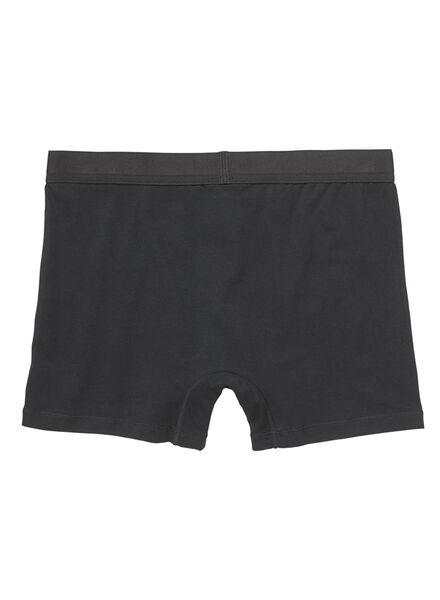 2-pak herenboxers long zwart zwart - 1000009933 - HEMA