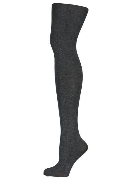 katoenen maillot 100 denier grijsmelange grijsmelange - 1000001201 - HEMA