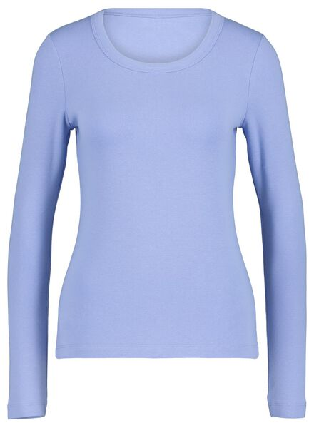 dames top blauw blauw - 1000017514 - HEMA