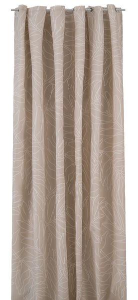 Douchegordijn 180x200 textiel bladeren beige