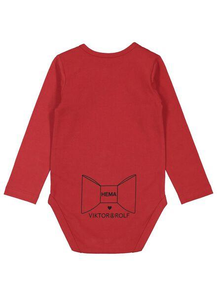 baby romper Viktor&Rolf - biologisch katoen stretch rood rood - 1000016934 - HEMA