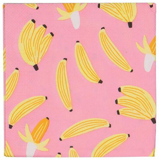 servetten 24x24 banaan 20 stuks - 14280119 - HEMA