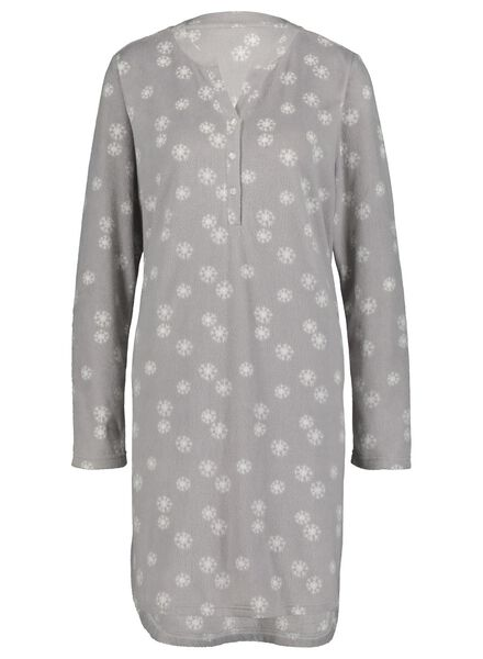 dames nachthemd grijsmelange grijsmelange - 1000017232 - HEMA