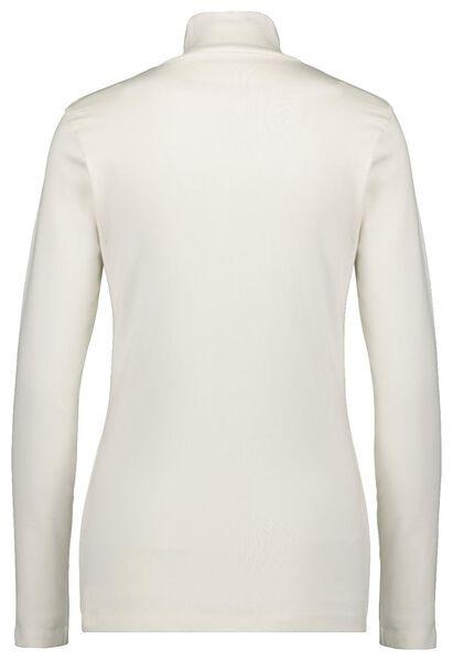 dames t-shirt col gebroken wit - 1000021675 - HEMA