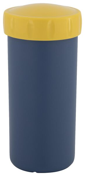 drinkbeker met deksel 300ml blauw - 80640013 - HEMA