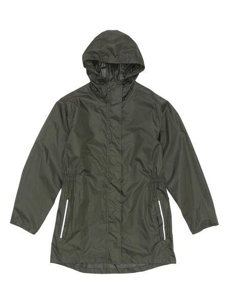 opvouwbare regenjas groen groen - 1000006257 - HEMA