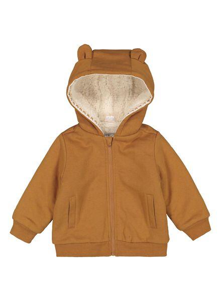 baby sweatvest bruin - 1000014889 - HEMA