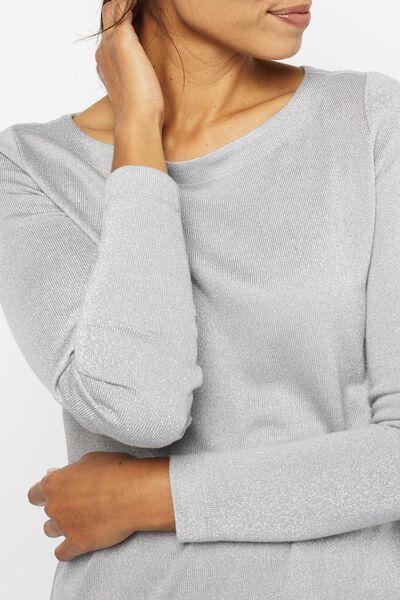 dames t-shirt glitter grijs grijs - 1000021678 - HEMA