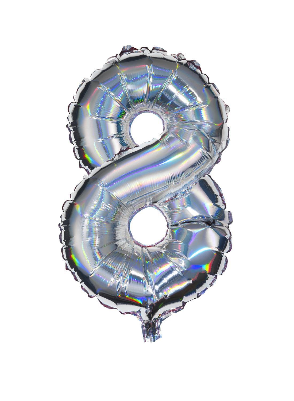 HEMA Folieballon 8 - Zilver (multicolor)